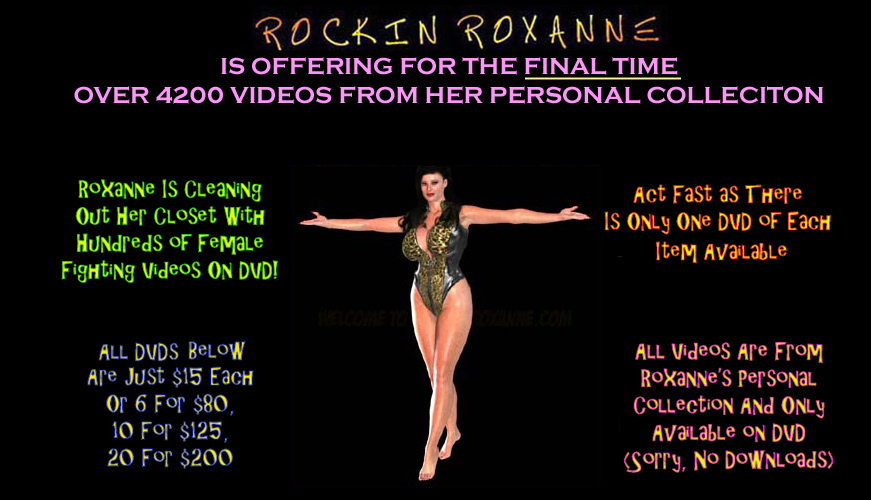 Rockin-Roxanne Is Now Offering Over 4200 DVDs From Her Personal Collection  Of Videos For The FINAL TIME! So if you want any of these videos, ...